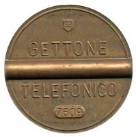 Телефонный жетон. 7609. Италия. 1976 год. (Отметка: ESM)