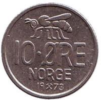 Пчела. 10 эре. 1973 год, Норвегия.