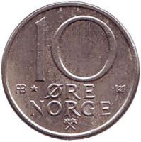10 эре. 1980 год (AB*), Норвегия.