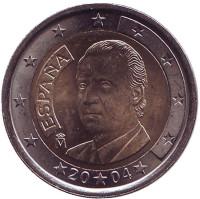 Монета 2 евро. 2004 год, Испания.