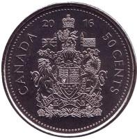 Монета 50 центов. 2016 год, Канада.