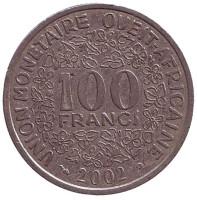 Монета 100 франков. 2002 год, Западные Африканские Штаты.