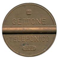 Телефонный жетон. 7701. Италия. 1977 год. (Отметка: IPM)