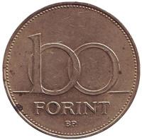 Монета 100 форинтов. 1994 год, Венгрия.