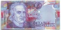 Исаак Ньютон. Рекламная (тестовая) банкнота. De La Rue, Великобритания. Тип 2.
