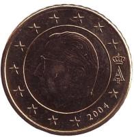 Монета 50 центов. 2004 год, Бельгия.