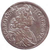 Карл XI. Монета 1 марка. 1688 год, Швеция.