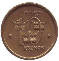 Монета 10 крон. 2003 год, Швеция.