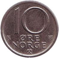 10 эре. 1987 год, Норвегия.