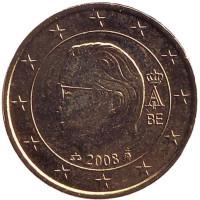 Монета 50 центов. 2008 год, Бельгия.