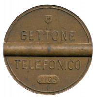 Телефонный жетон. 7705. Италия. 1977 год. (Отметка: ESM)