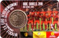 """Сборная Бельгии по футболу. """"Красные дьяволы"""". Монета 2,5 евро. 2018 год, Бельгия."""