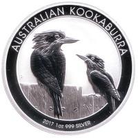 Кукабарра. Монета 1 доллар. 2017 год, Австралия.