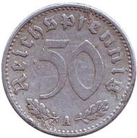 Монета 50 рейхспфеннигов. 1935 год (A), Третий Рейх (Германия).