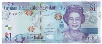 Банкнота 1 доллар. 2015 год, Каймановы острова. (D/5)