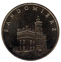 Сандомир. Монета 2 злотых. 2006 год, Польша.