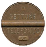 Телефонный жетон. 7611. Италия. 1976 год. (Отметка: ESM)