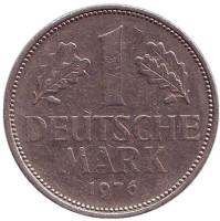 Монета 1 марка. 1976 год (D), ФРГ.