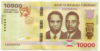 Банкнота 10000 франков. 2015 год, Бурунди.