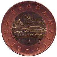 Прага. Монета 50 крон. 2011 год, Чехия.