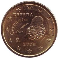Монета 50 центов. 2008 год, Испания.