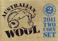 Австралийская шерсть. Набор из 2-х памятных монет. 2011 год, Австралия.