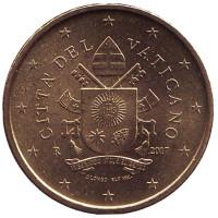 Монета 50 центов. 2017 год, Ватикан.