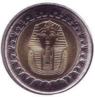 Тутанхамон. Монета 1 фунт. 2018 год, Египет. UNC.