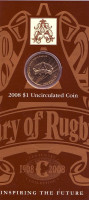 100-летие Лиги регби. Монета 1 доллар. 2008 год, Австралия.