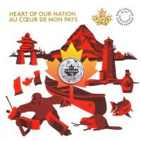 150 лет Конфедерации Канада. Сердце Нации. Монета 3 доллара. 2017 год, Канада.