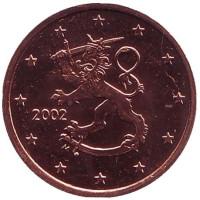 Монета 5 центов. 2002 год, Финляндия.