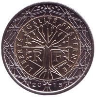 Монета 2 евро. 2015 год, Франция.