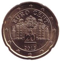 Монета 20 центов, 2013 год, Австрия.