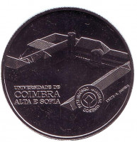 Коимбра. Монета 2,5 евро. 2014 год, Португалия.