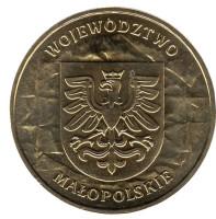 Малопольское воеводство. Монета 2 злотых, 2004 год, Польша.