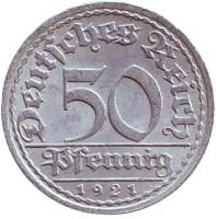50 пфеннигов. 1921 год (A), Веймарская республика.