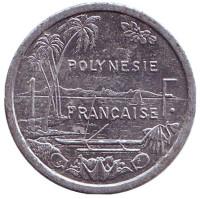 Монета 1 франк. 2009 год, Французская Полинезия. Из обращения.