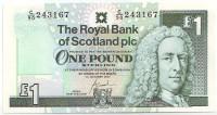 Лорд Илай. Банкнота 1 фунт. 2001 год, Шотландия.