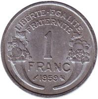 Монета 1 франк. 1959 год, Франция.