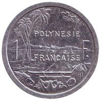 Монета 1 франк. 2012 год, Французская Полинезия.