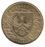 Опольское воеводство. Монета 2 злотых, 2004 год, Польша.