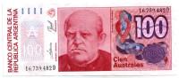 Доминго Фаустино Сармьенто. Банкнота 100 аустралей. 1985-1990 гг., Аргентина.