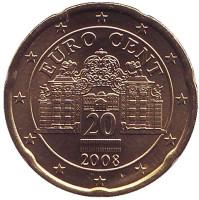 Монета 20 центов. 2008 год, Австрия.