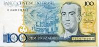 Жуселину Кубичек. Банкнота 100 крузадо, 1987 год, Бразилия. Тип 3.