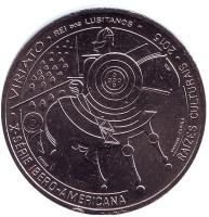 Вириат. Монета 7,5 евро. 2015 год, Португалия.