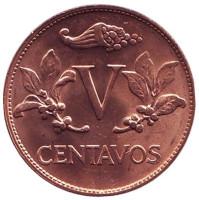 Монета 5 сентаво. 1978 год, Колумбия. UNC.