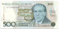 100 лет со дня рождения Эйтора Вилла-Лобоса. Банкнота 500 крузадо. 1986-1988 гг., Бразилия. Тип 3.