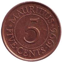 5 центов, 1996 год, Маврикий.