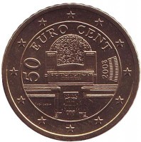 Монета 50 центов. 2008 год, Австрия.