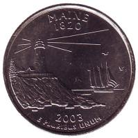 Мэн. Монета 25 центов (D). 2003 год, США.